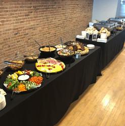 Buffet Table at Sundog Event