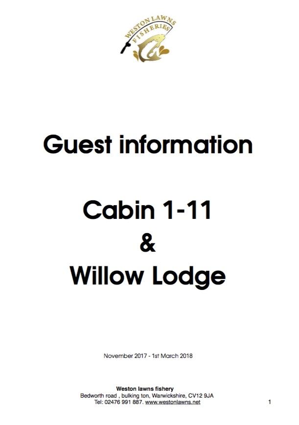 Cabin guest information