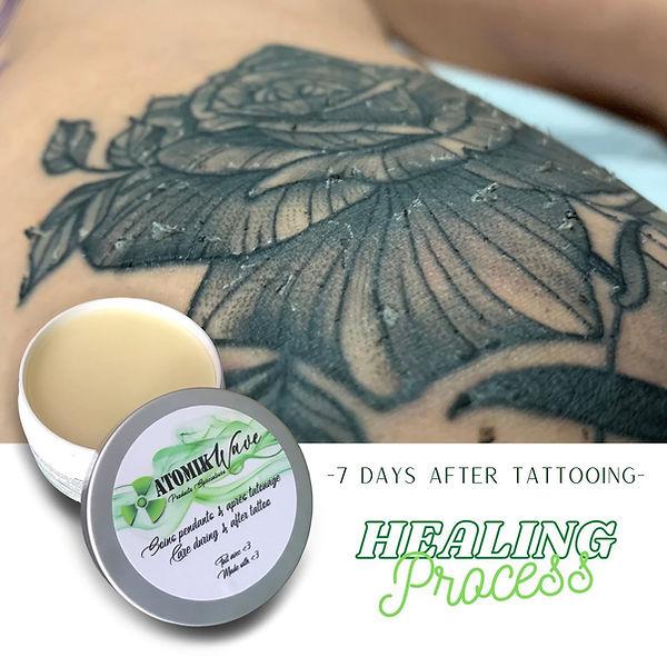 Atomic wave tattoo healing process atomi