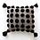 Thumbnail: Pom Pom Pillow - Black on Grey