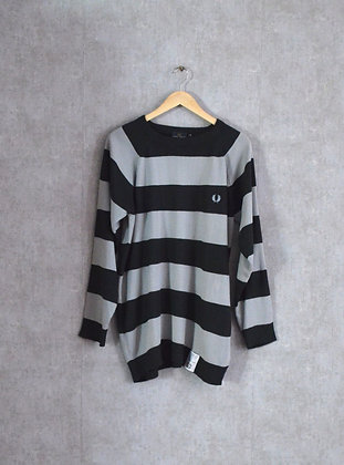 Lekki sweter w paski M - L