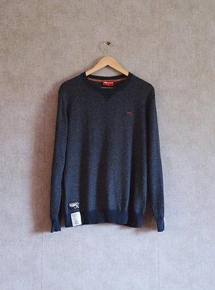 Sweterek męski w kolorze granatowy melanż M