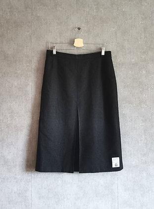 Ciemnosiwa wełniana spódnica L / XL