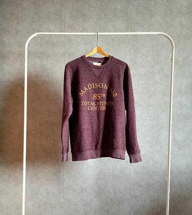Fajoska bluza bordo-melanż M