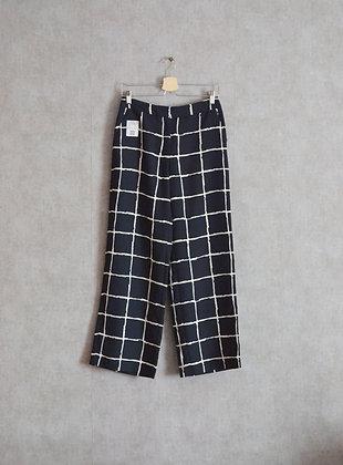Spodnie luźne w kratę XS - S
