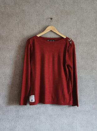 Ciemnoczerwony sweterek L