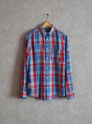 Koszula w czerwono-niebieską kratę S