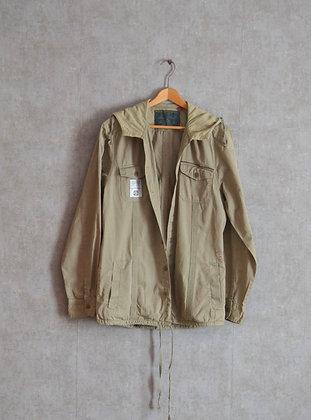 Męska cienka kurtka z kapturem w stylu safari M