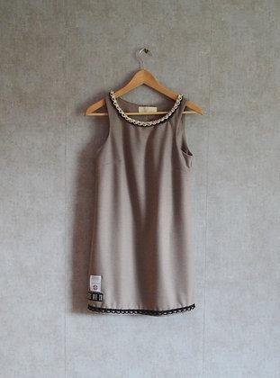 Siwa sukienka z koralikami S
