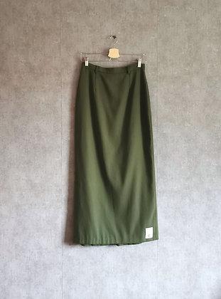 Zielona długa spódnica M