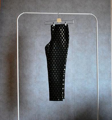 Spodnie czarne w złote kropy M / L