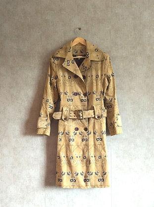 Beżowy stylowy płaszcz L / XL