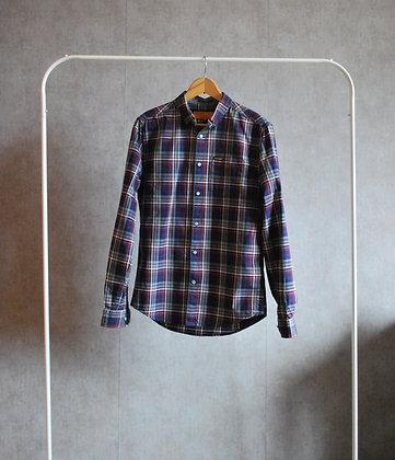 Koszula w kratę granat / bordo S