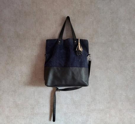 Czarno-granatowa torba na ramię
