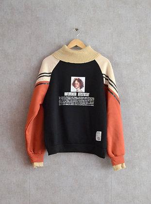 Stylowa bluza ze swetrowym wykończeniem M