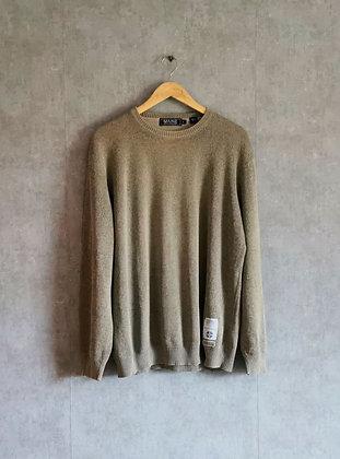Sweterek męski oliwkowy melanż L
