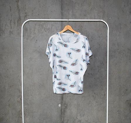 Bluzeczka w pawie pióra L