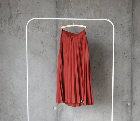 Ruda plisowana spódnica L