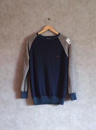 Męski sweterek granatowo-szary XS
