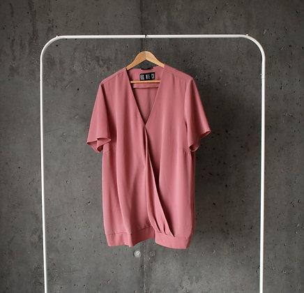 Bluzka luźna brudny róż XL - 3XL
