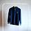 Thumbnail: Granatowy sweter z rozpinaną stójką XS