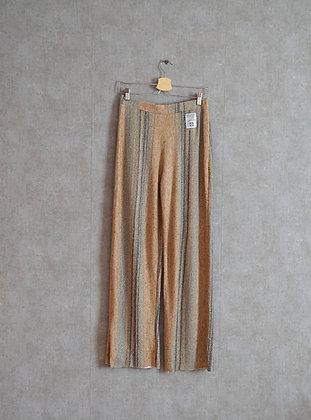 Pastelowe luźne szerokie spodnie M