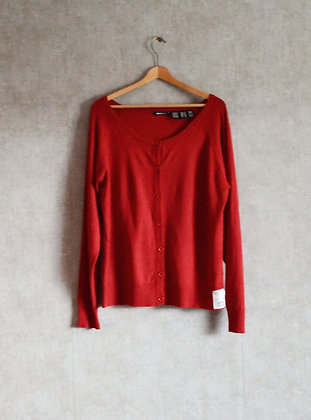 Sweterek wiskozowy na guziki XL