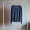 Thumbnail: Sweterek niebieski dekolt serek S - M