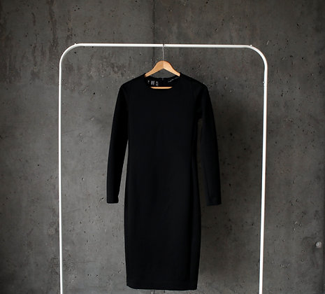 Czarna piankowa sukienka S