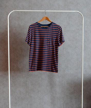 T-shirt w pomarańczowe paski M