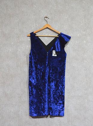 Chabrowa aksamitna sukienka L / XL