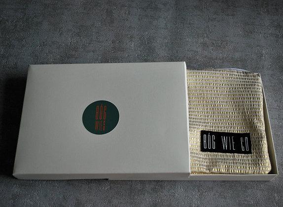 Biało-złota żakardowa kosmetyczka
