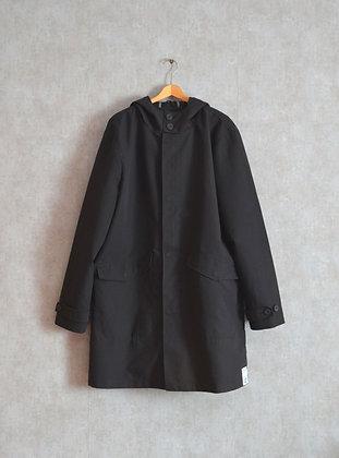 Czaderski czarny płaszcz z kapturem XL