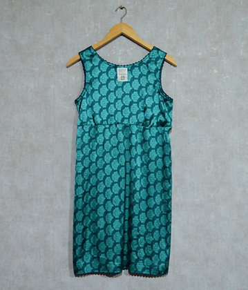 Turkusowa satynowa sukienka XL