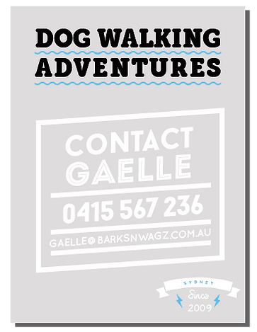 Dog Walking Adventures contact Gaelle at Barksnwagz
