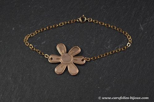 Bracelet en bronze doré