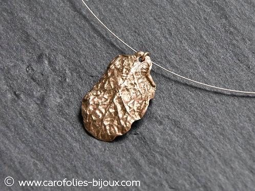 Ras-de-cou feuille de primevère (bronze doré)
