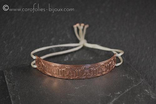 "Bracelet ""chardons"" en cuivre"