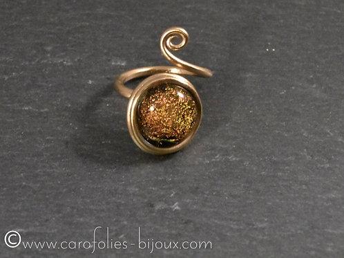 Bague en bronze doré