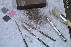 Pâtes de métaux - Outils pour les pré-finitions sur la pâte de métal crue