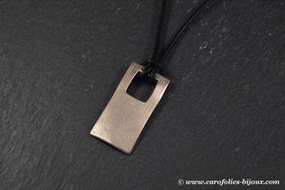 024-Brossé-collier-homme-bronze-blanc-br
