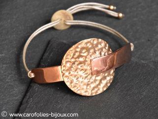 martelé-004-bracelet-cuivre-bronze-doré.