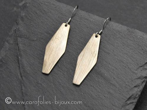 Boucles d'oreilles en bronze doré ou blanc