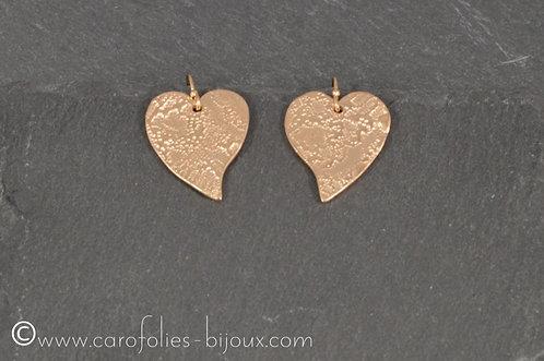 Boucles en bronze doré
