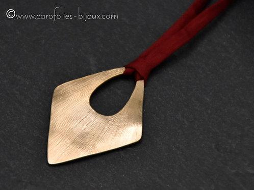 Pendentifs losange en bronze doré ou blanc