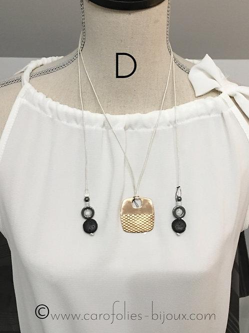 Cordon en cuir avec perles en pierre gemme