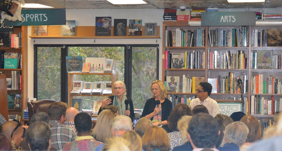 Katie with Liza Mundy and Sharon Holland at Politics & Prose