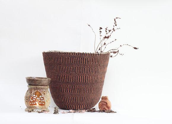 L | natural | basket | fine weave | sisal