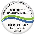 Siegel für Nachhaltigkeit 2021 Deutsch-