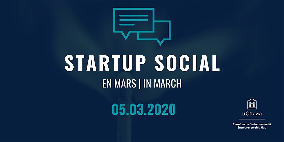 Startup Social: en mars   in March